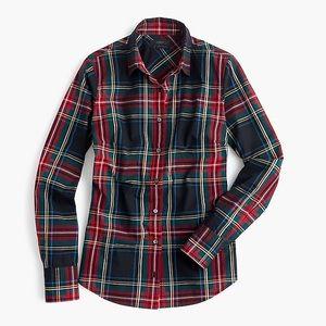 J. CREW / perfect shirt in stewart plaid